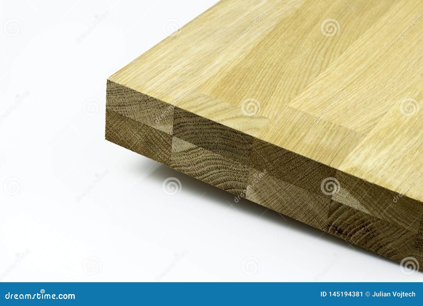 Het hardhout lijmde panelen die op witte achtergrond worden geïsoleerd