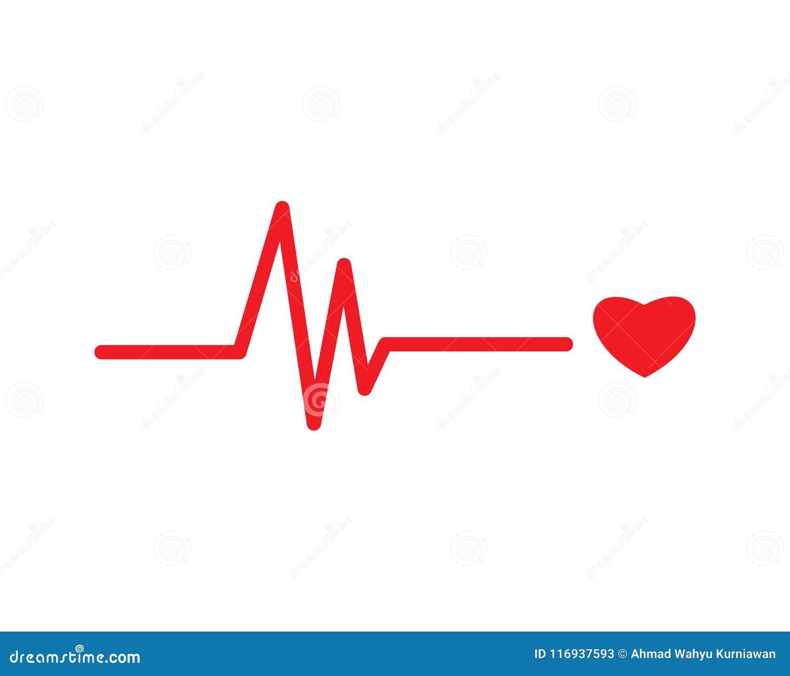 Het hart sloeg lijnvector