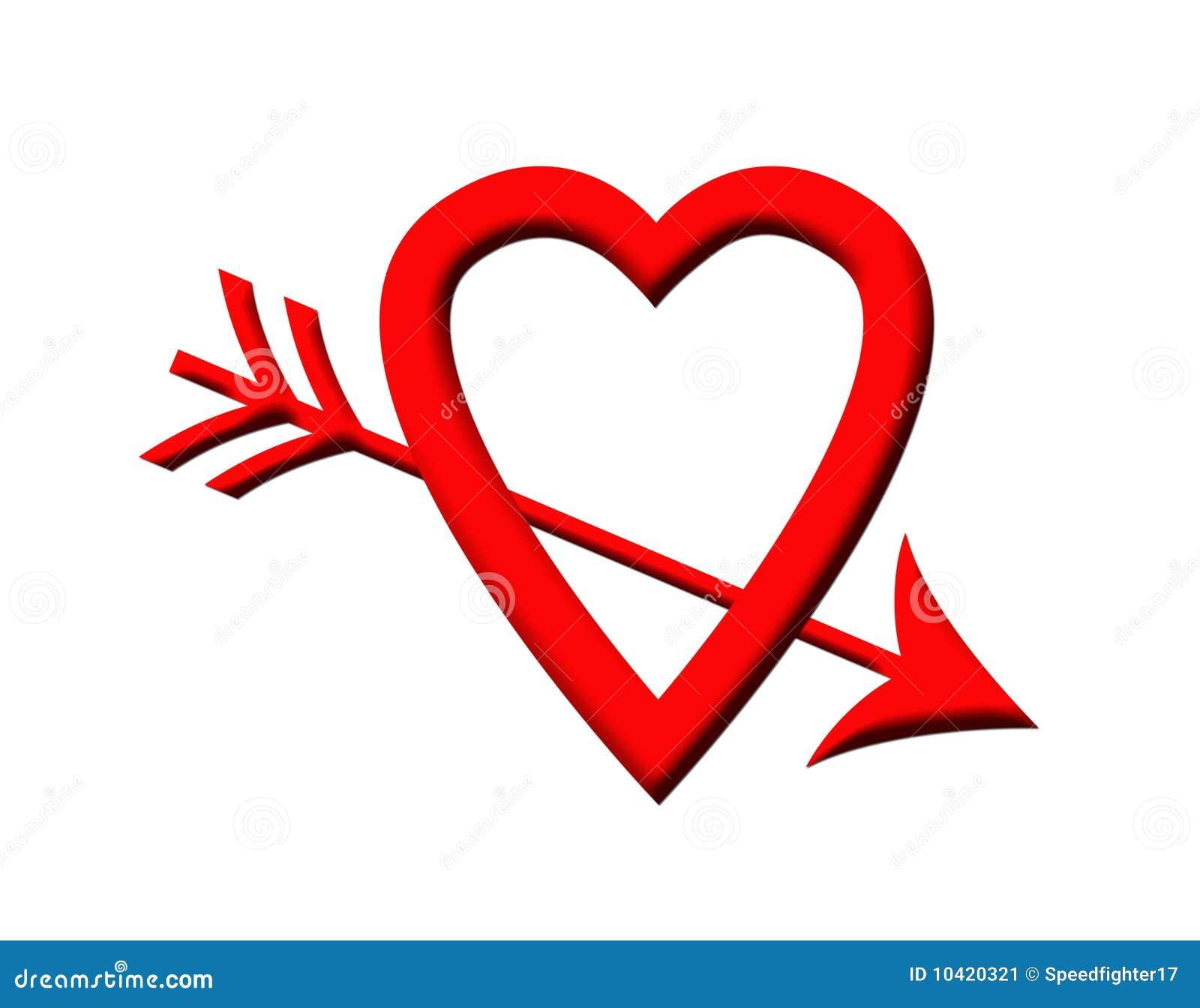 Het hart van de liefde dat door pijl wordt doordrongen for Door het hart van china