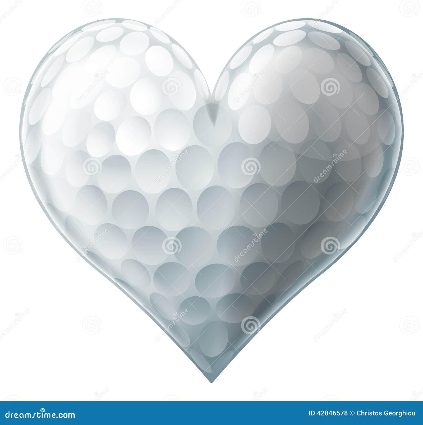 Het hart van de liefdegolfbal