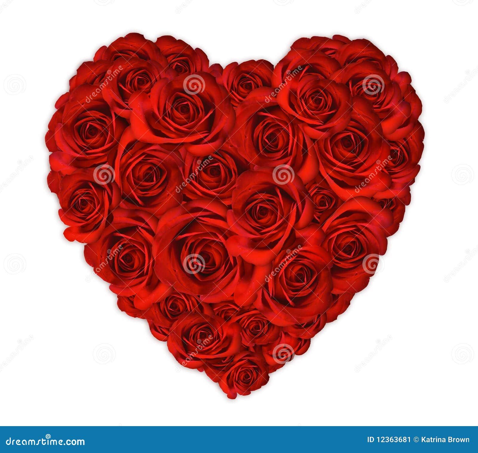Het Hart van de valentijnskaart dat uit Rozen wordt gemaakt