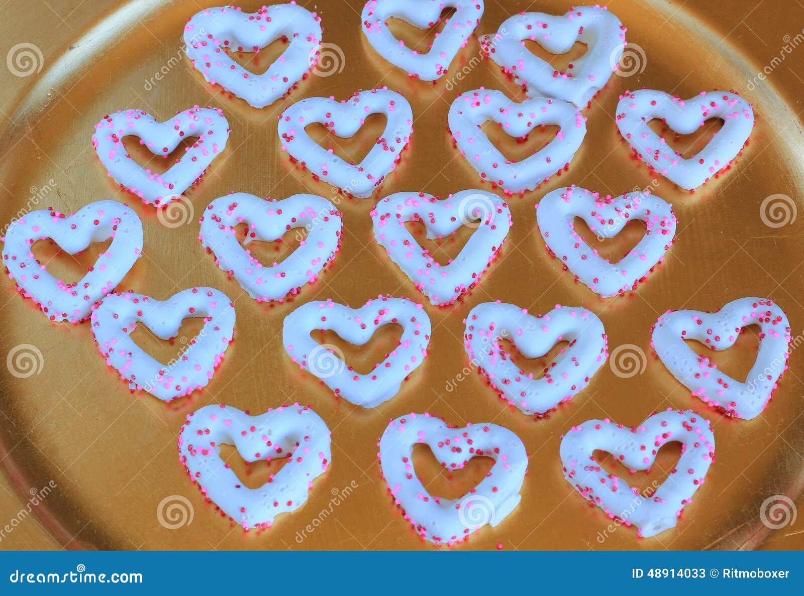 Het Hartchocolade behandelde pretzels van Valentine