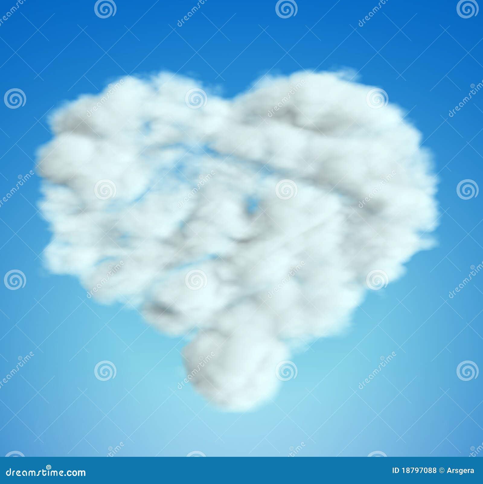 Het hartvorm van de wolk over blauwe hemel royalty vrije stock foto 39 s afbeelding 18797088 - Blauwe hemel kamer ...