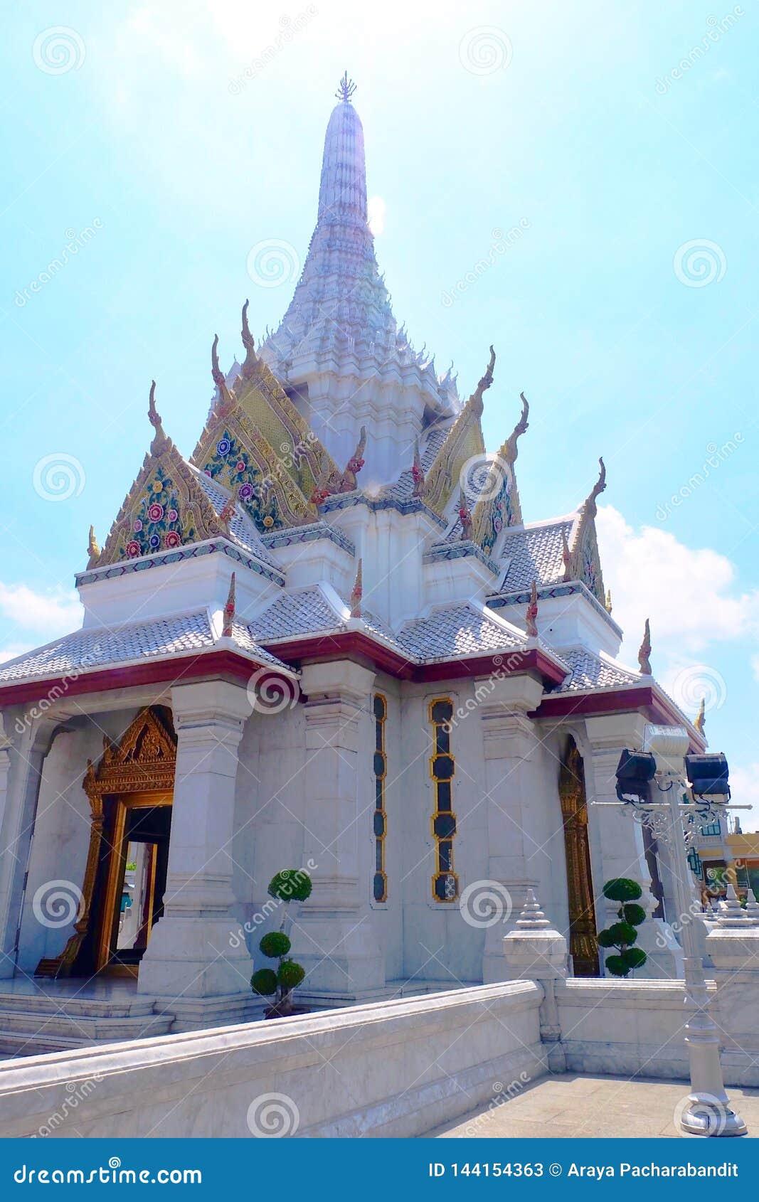 Het Heiligdom van de de Stadspijler van Bangkok in Bangkok, Thailand