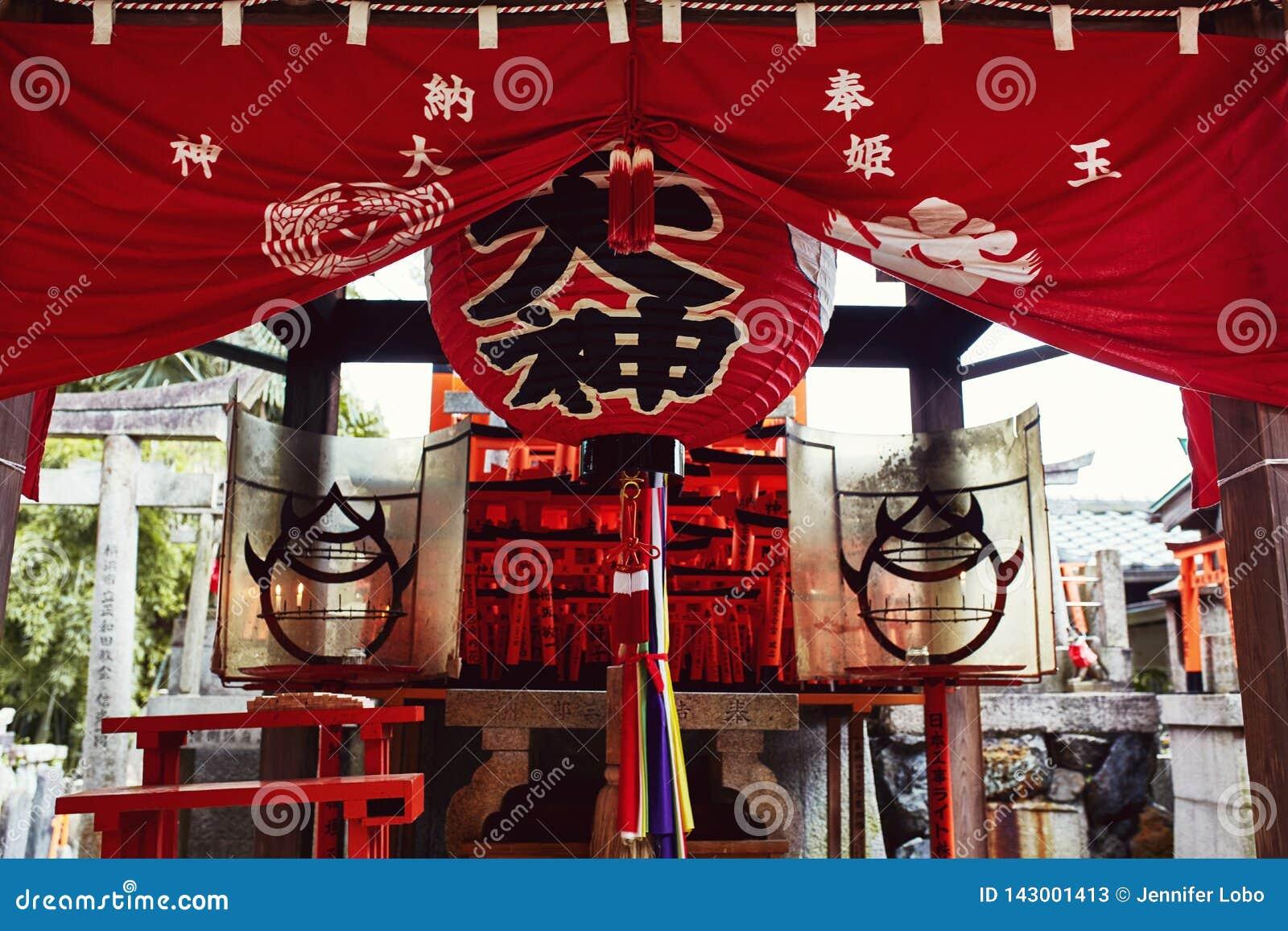 Het Heiligdom van Inari Taisha van Fushimi in Kyoto, Japan