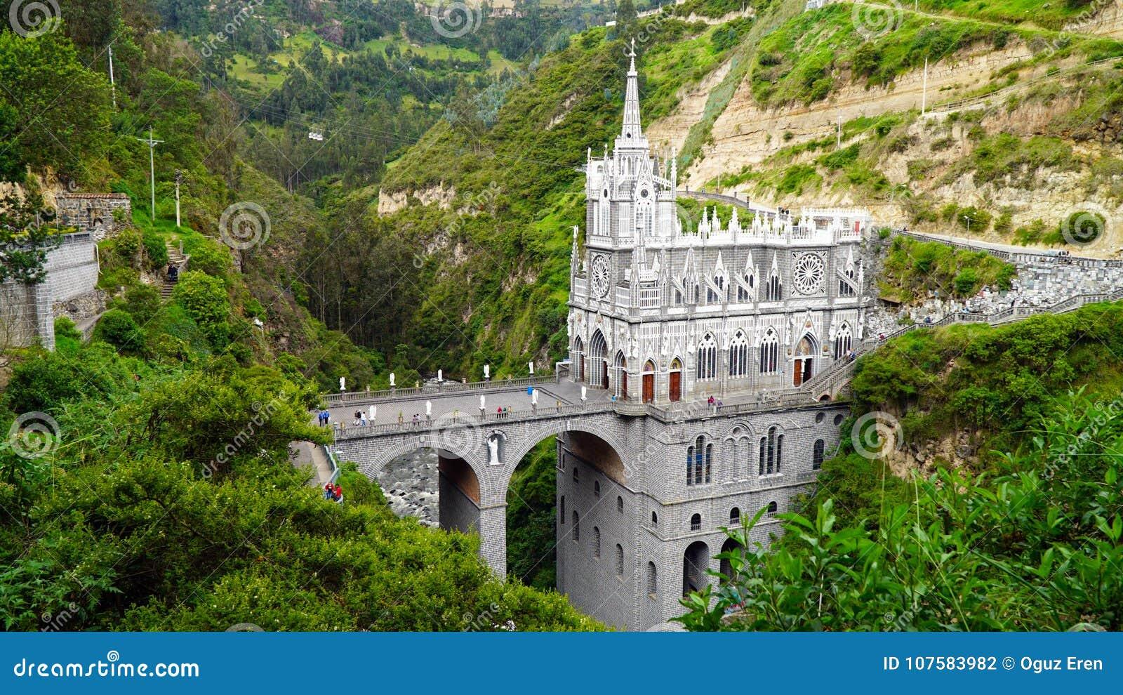 Het Heiligdom van Laslajas, Ipiales, Colombia