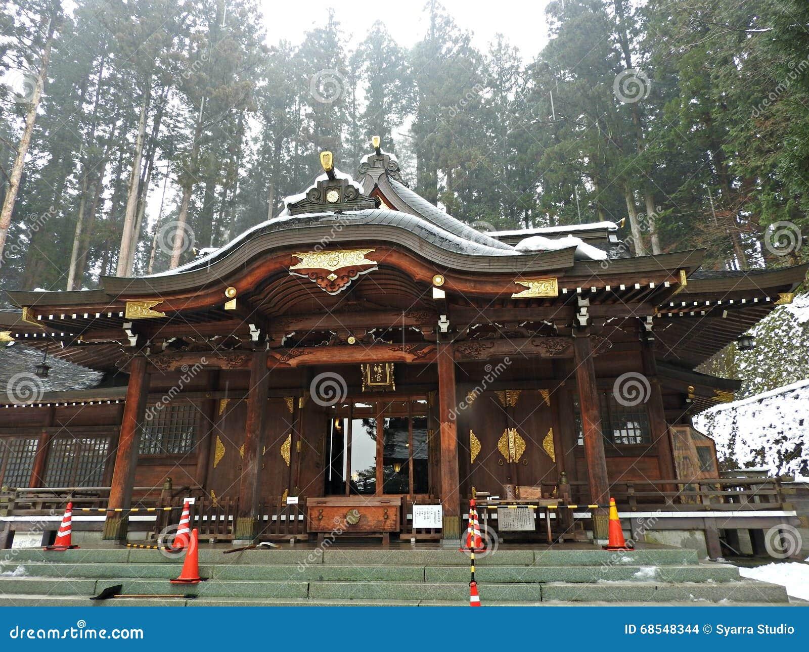 Het Heiligdom van Sakurayamahachimangu, Takayama, Japan