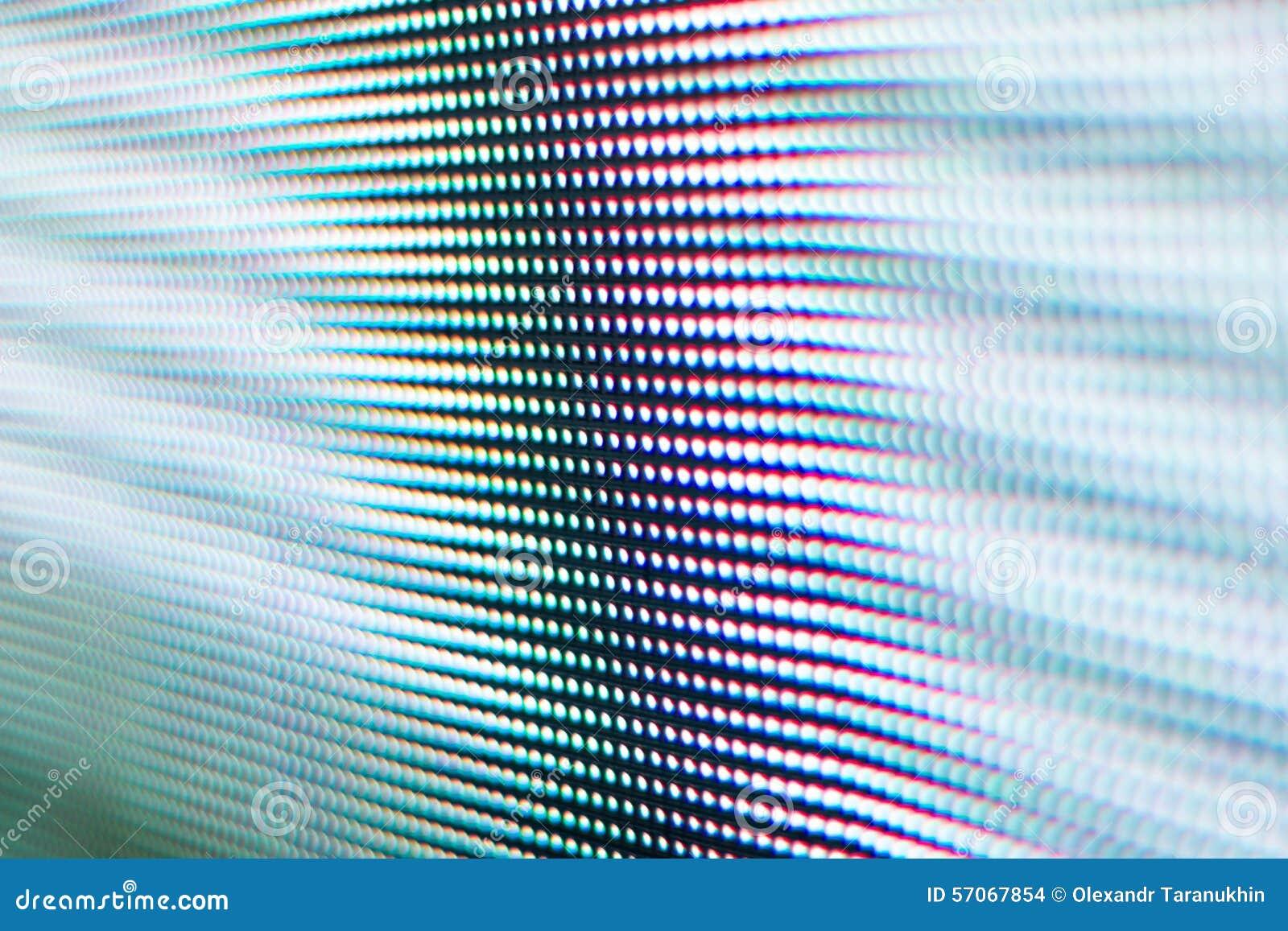Het heldere witte geleide scherm