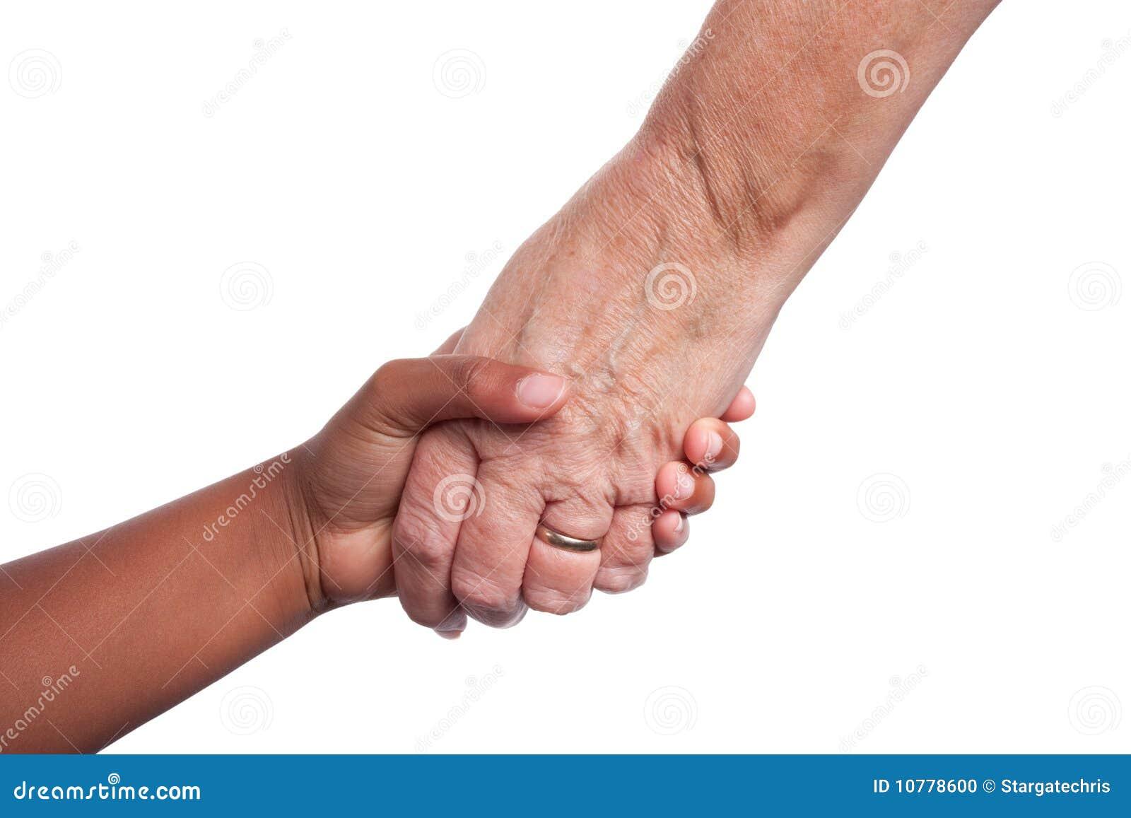 Het helpen van hand