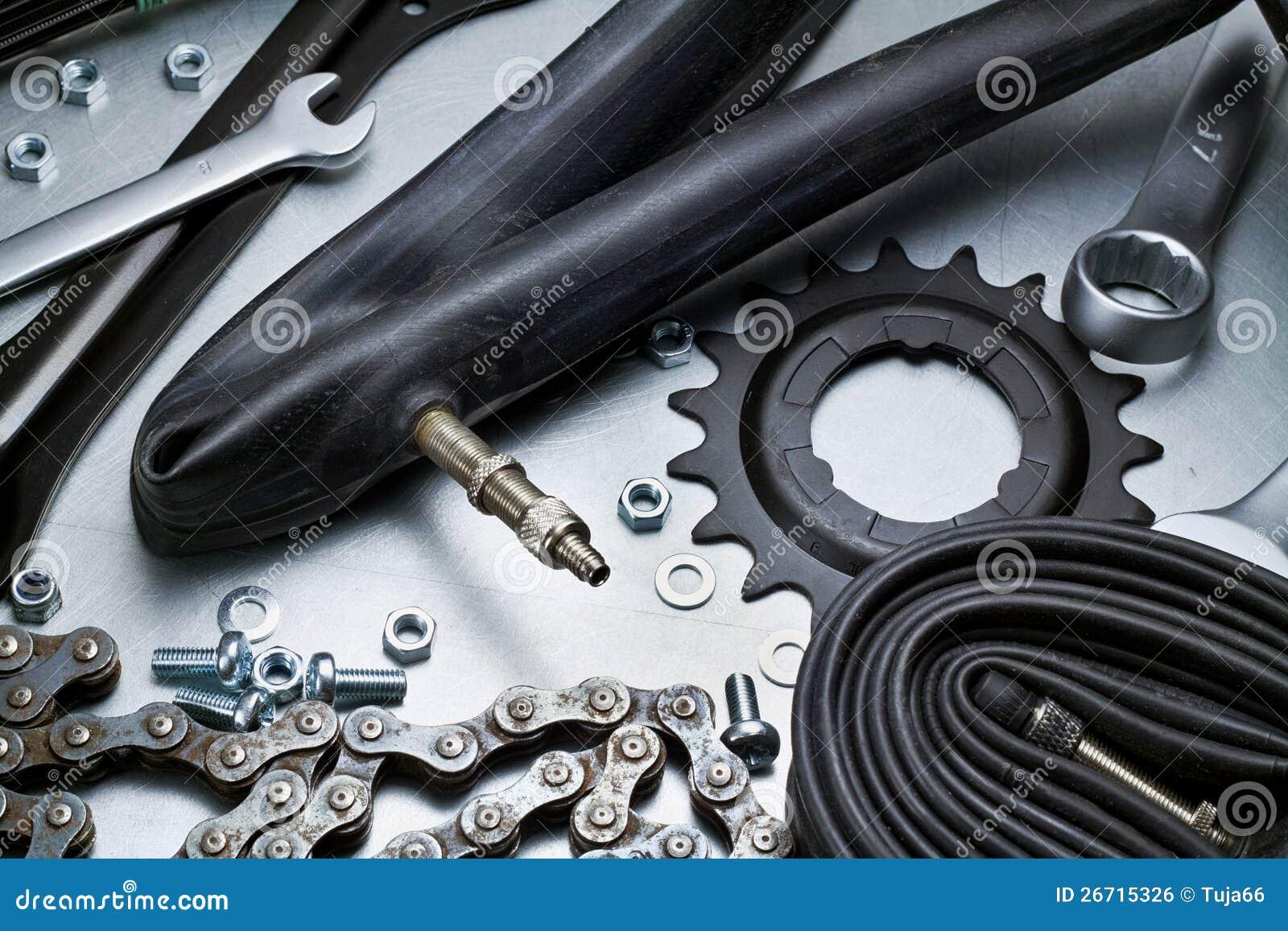 Het herstellen van de fiets