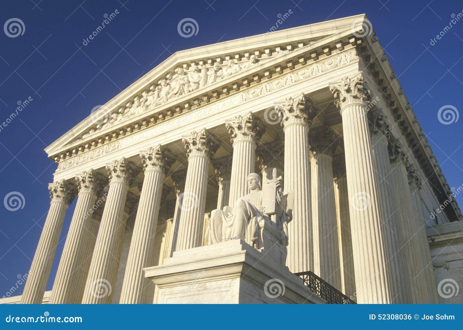 Het het Hooggerechtshofgebouw van Verenigde Staten, Washington, D C