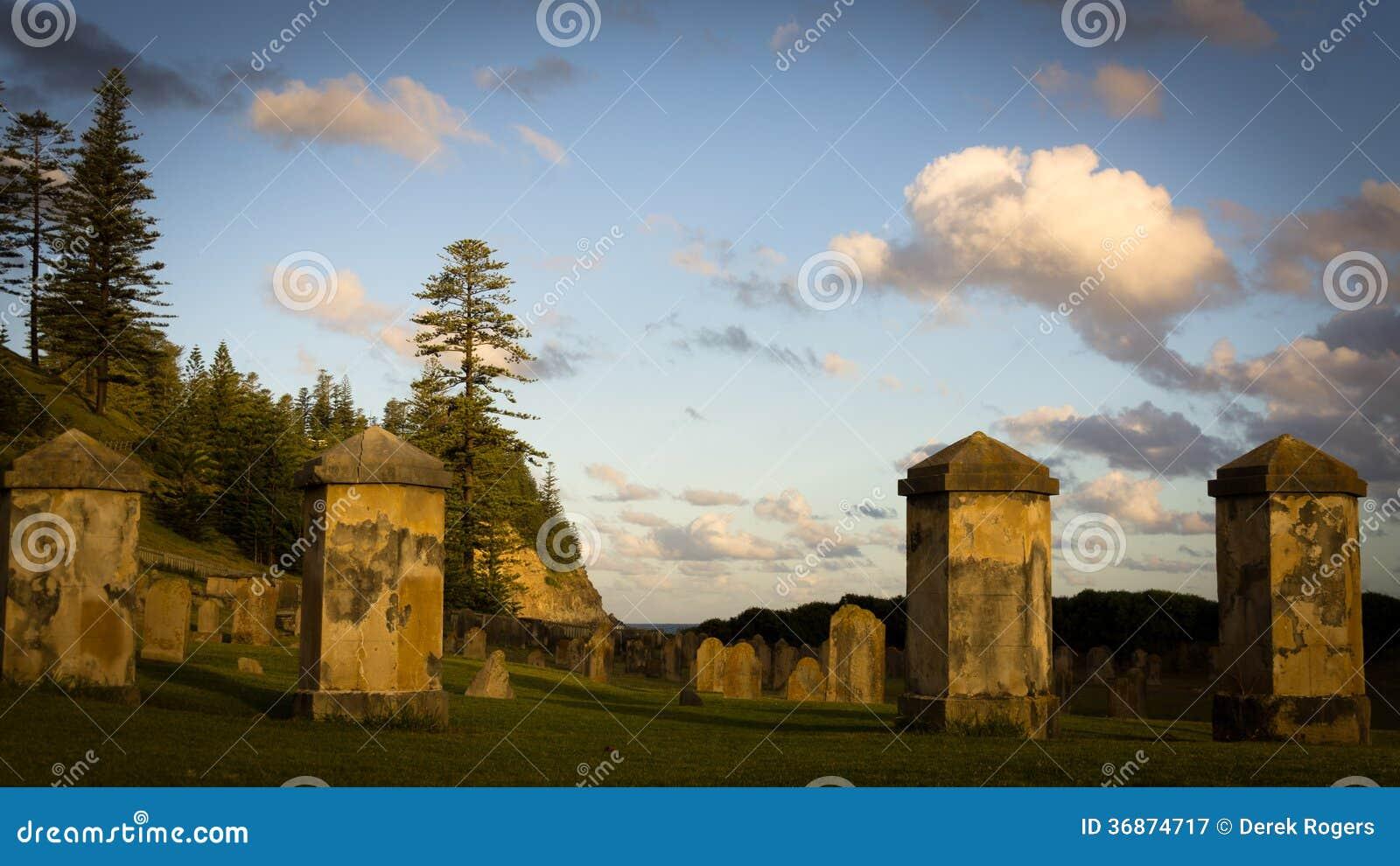 Het historische Eiland van Begraafplaatsnorfolk