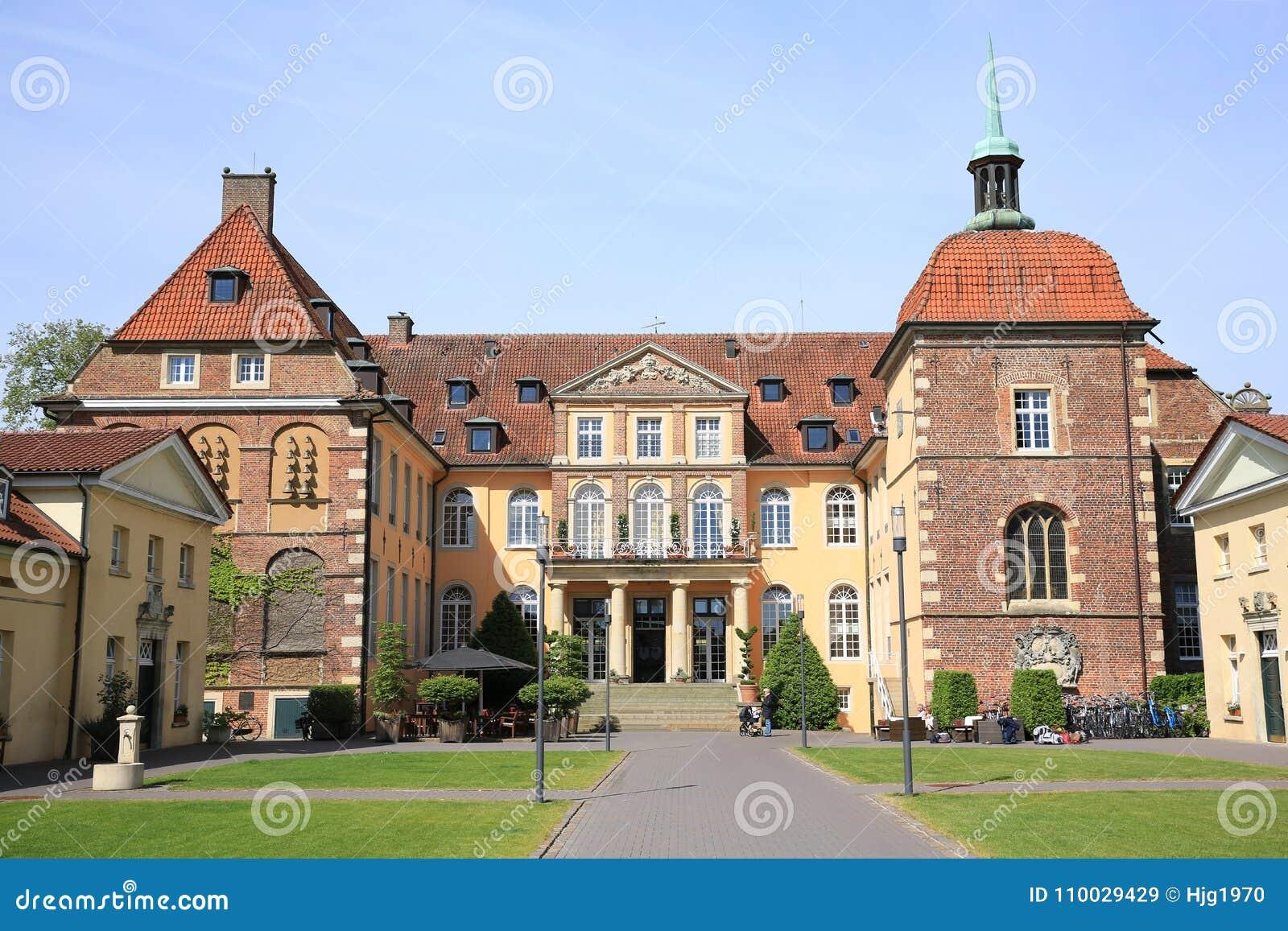 Het historische Kasteel Velen in Muensterland, Westfalen, Duitsland