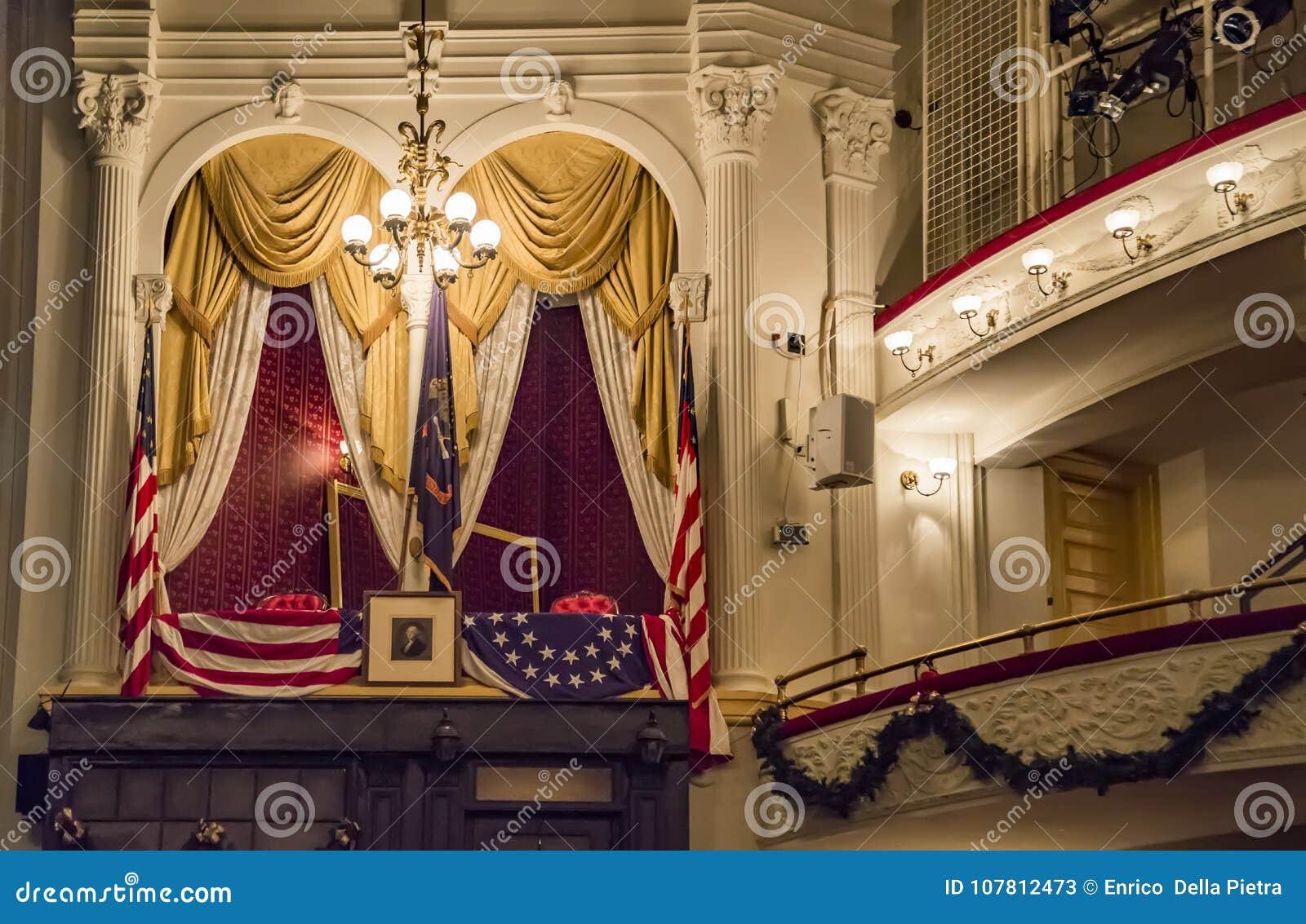 Het historische Theater van Ford ` s, de plaats van President Lincoln ` s moord