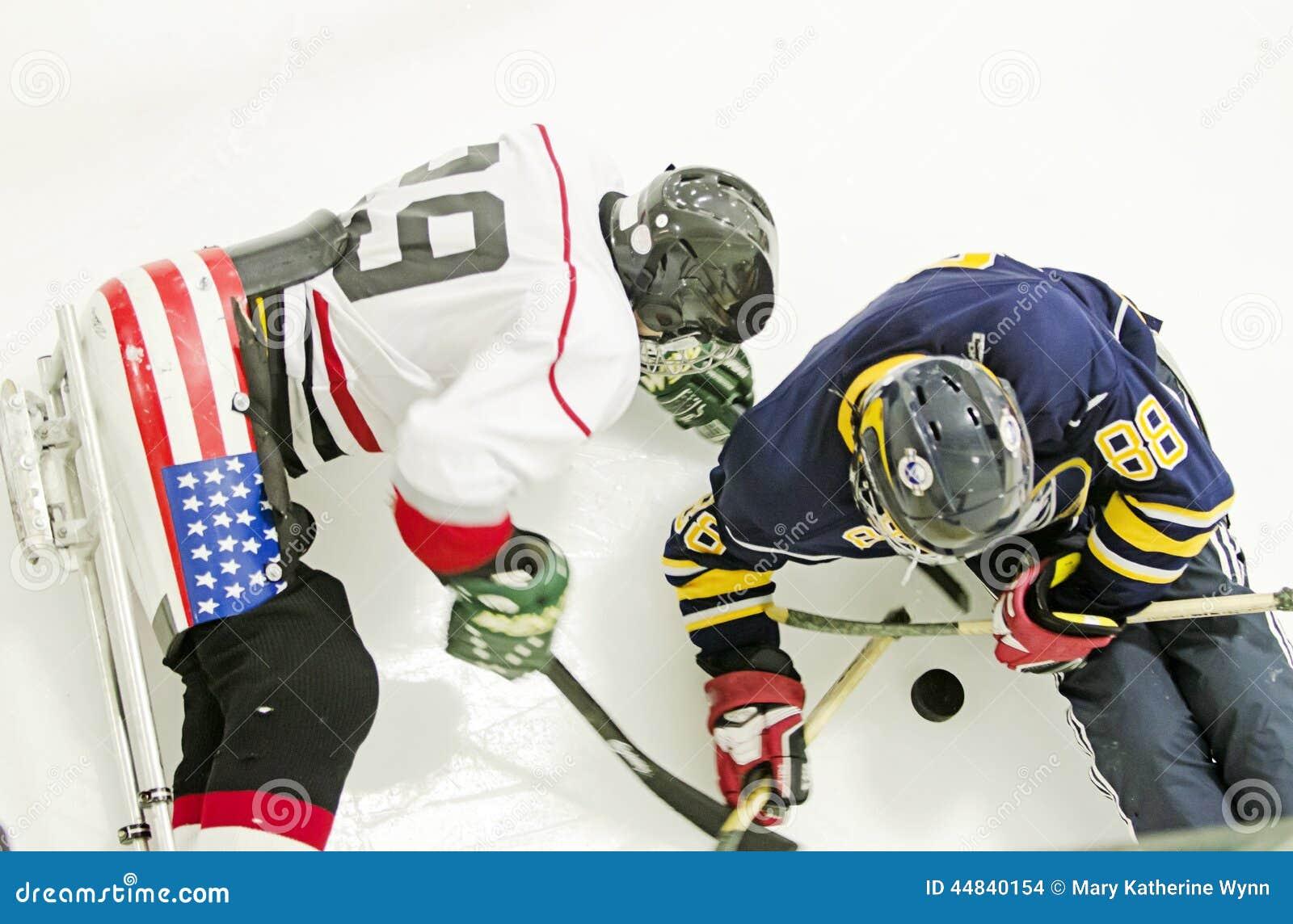 Het hockey van de ijsslee