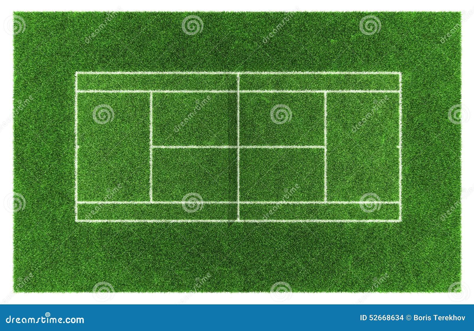 Het hof van het tennisgras