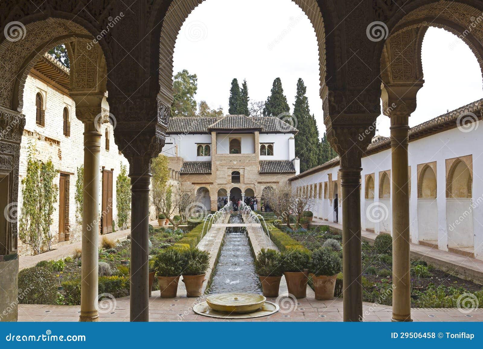 Het Hof van La Acequia. Generalife.