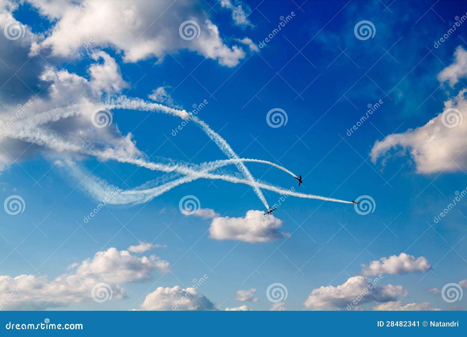Het hondengevecht van de lucht bij airshow