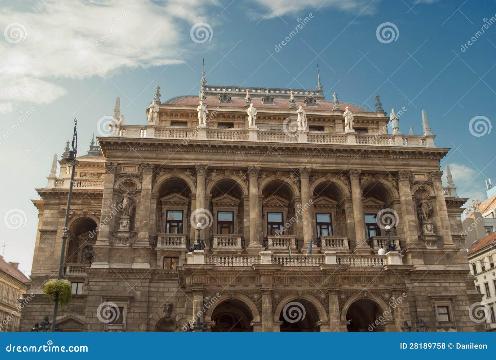 Het hongaarse huis van de opera van de staat in boedapest stock foto afbeelding 28189758 - Huis van het wereldkantoor newport ...