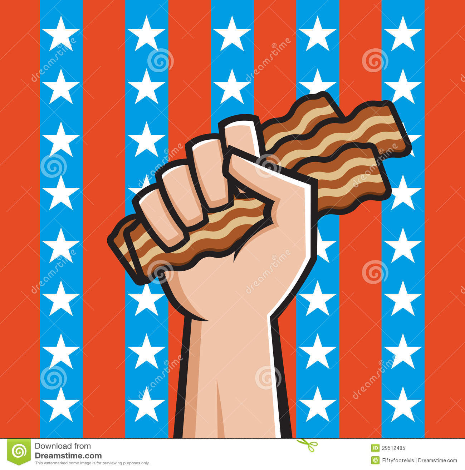 Het Hoogtepunt van de vuist van Amerikaans Bacon