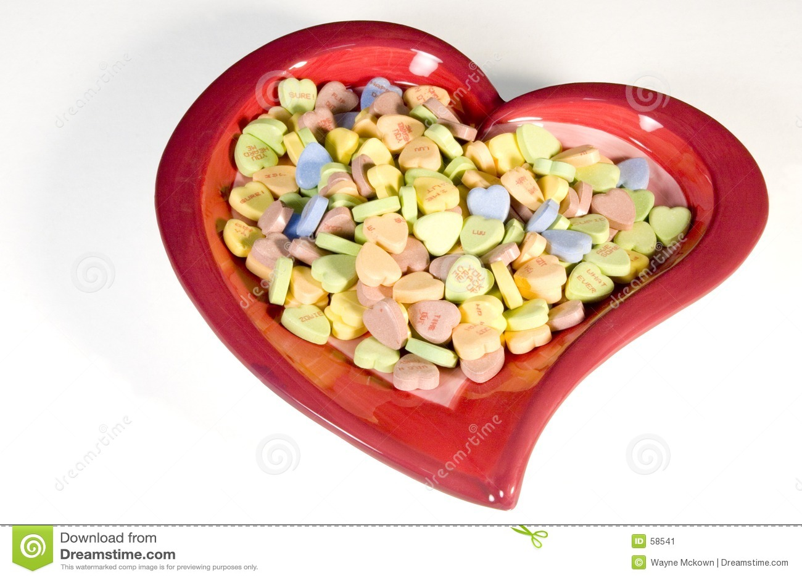 Het hoogtepunt van het hart van suikergoed
