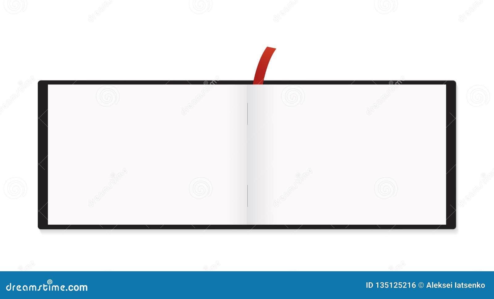 A5 het Horizontale Geïsoleerde Model van de Blocnote Rode Referentie
