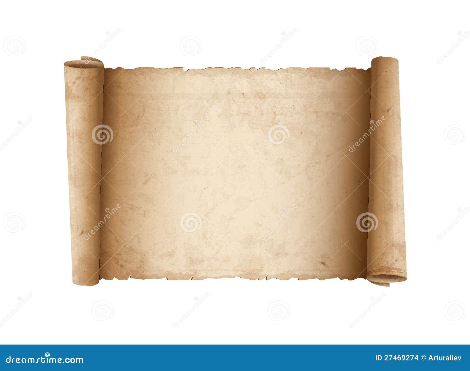 Het horizontale Oude document van de Rol