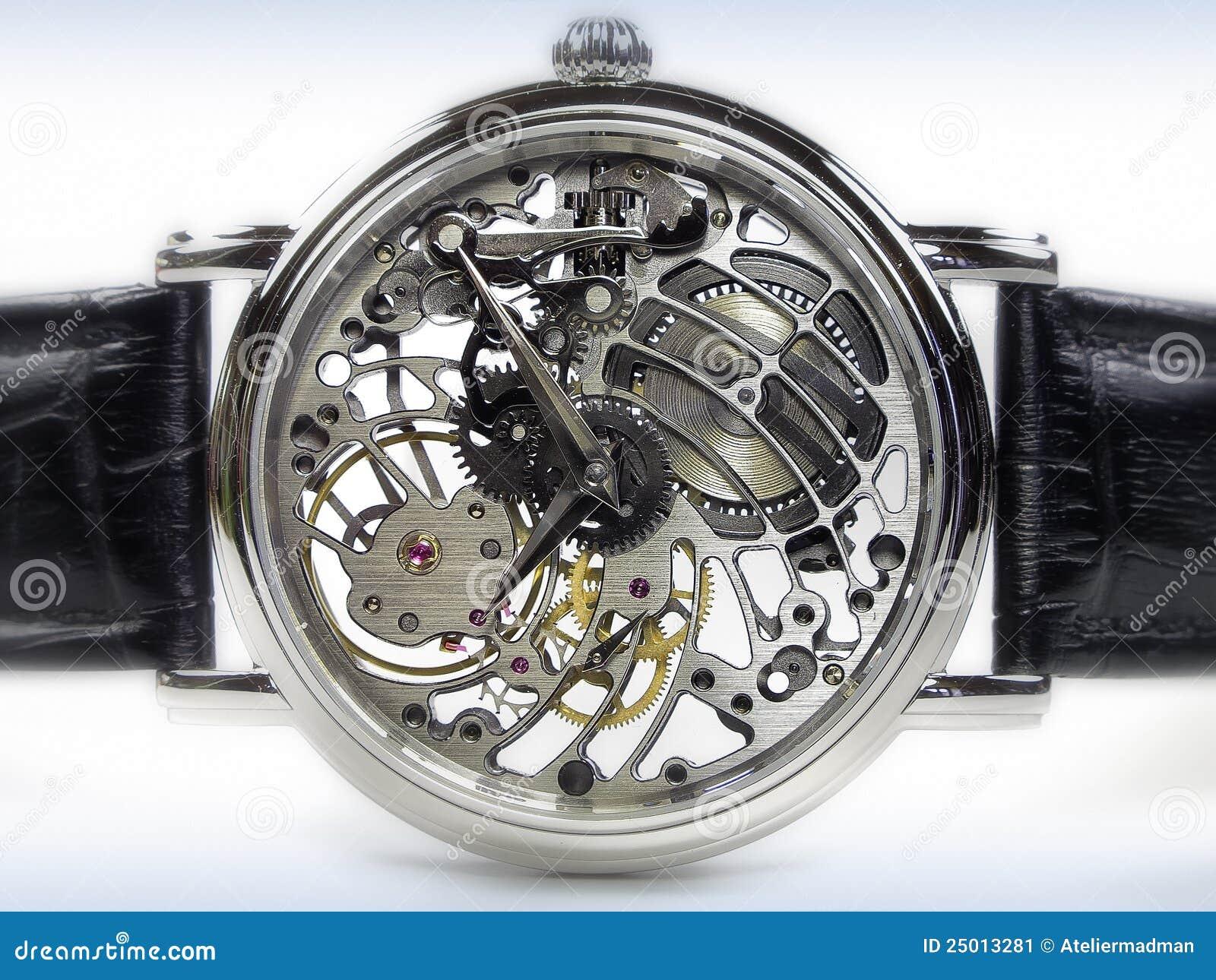 het horloge van het art deco de beweging van het skelet stock afbeelding beeld 25013281. Black Bedroom Furniture Sets. Home Design Ideas