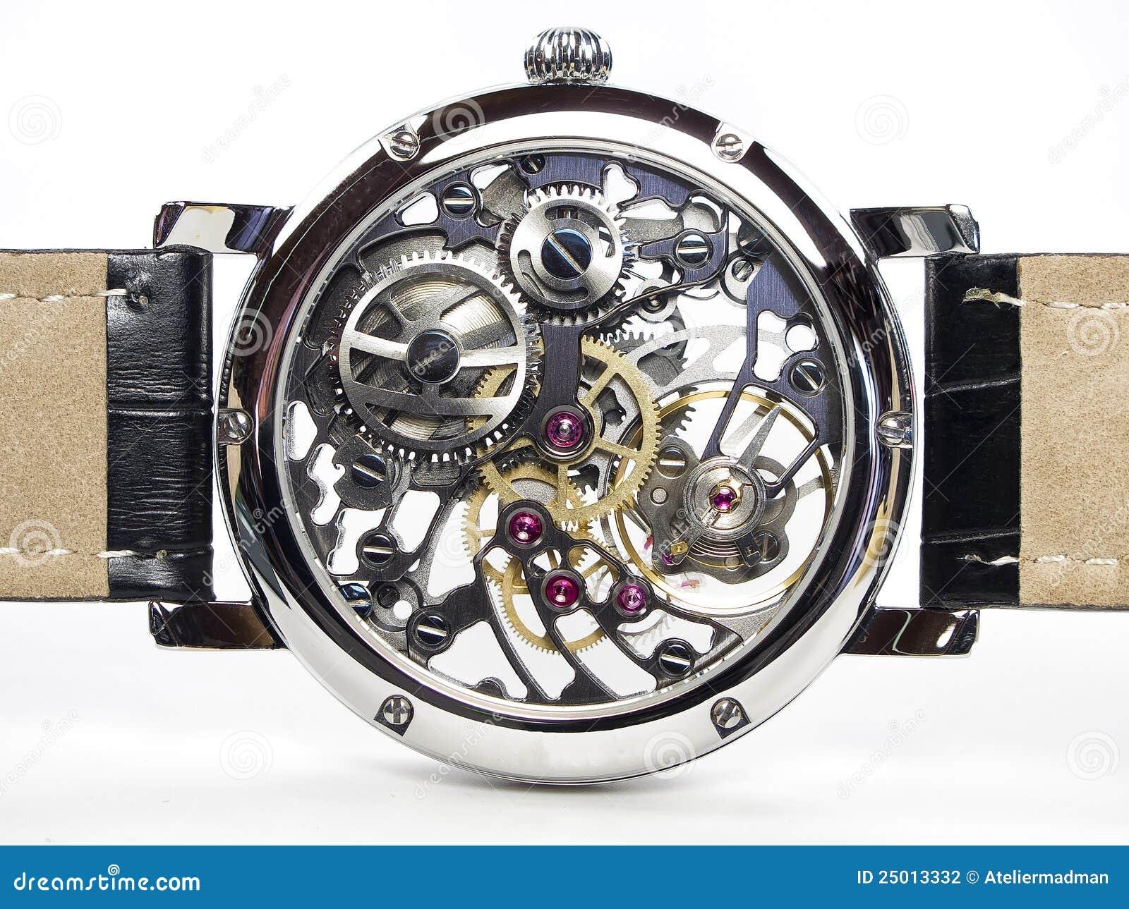 Het horloge van het art deco de beweging van het skelet stock fotografie afbeelding 25013332 - Binnen deco ...