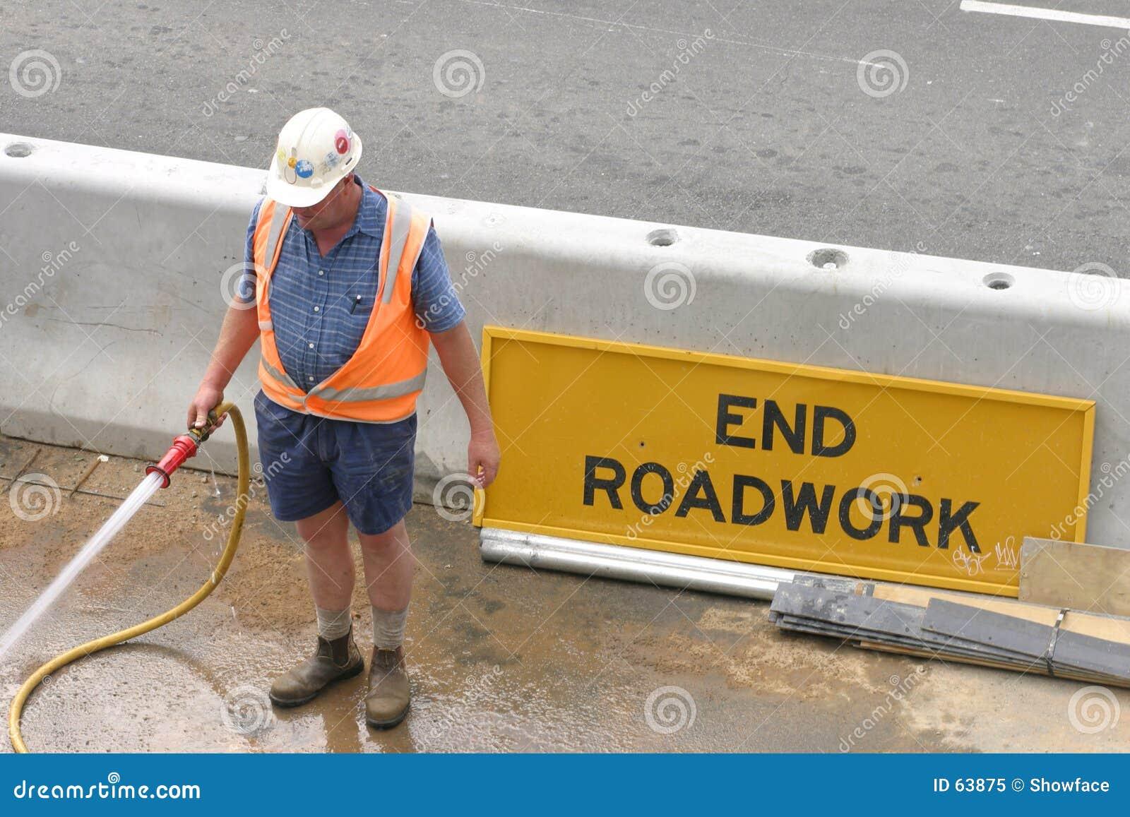 Het hosing van de werkman