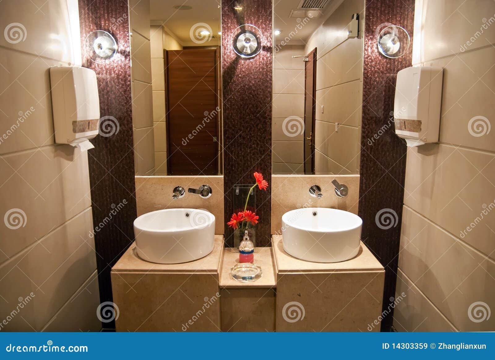 Het Hotel Openbaar Toilet Van De Luxe Royaltyvrije Stock