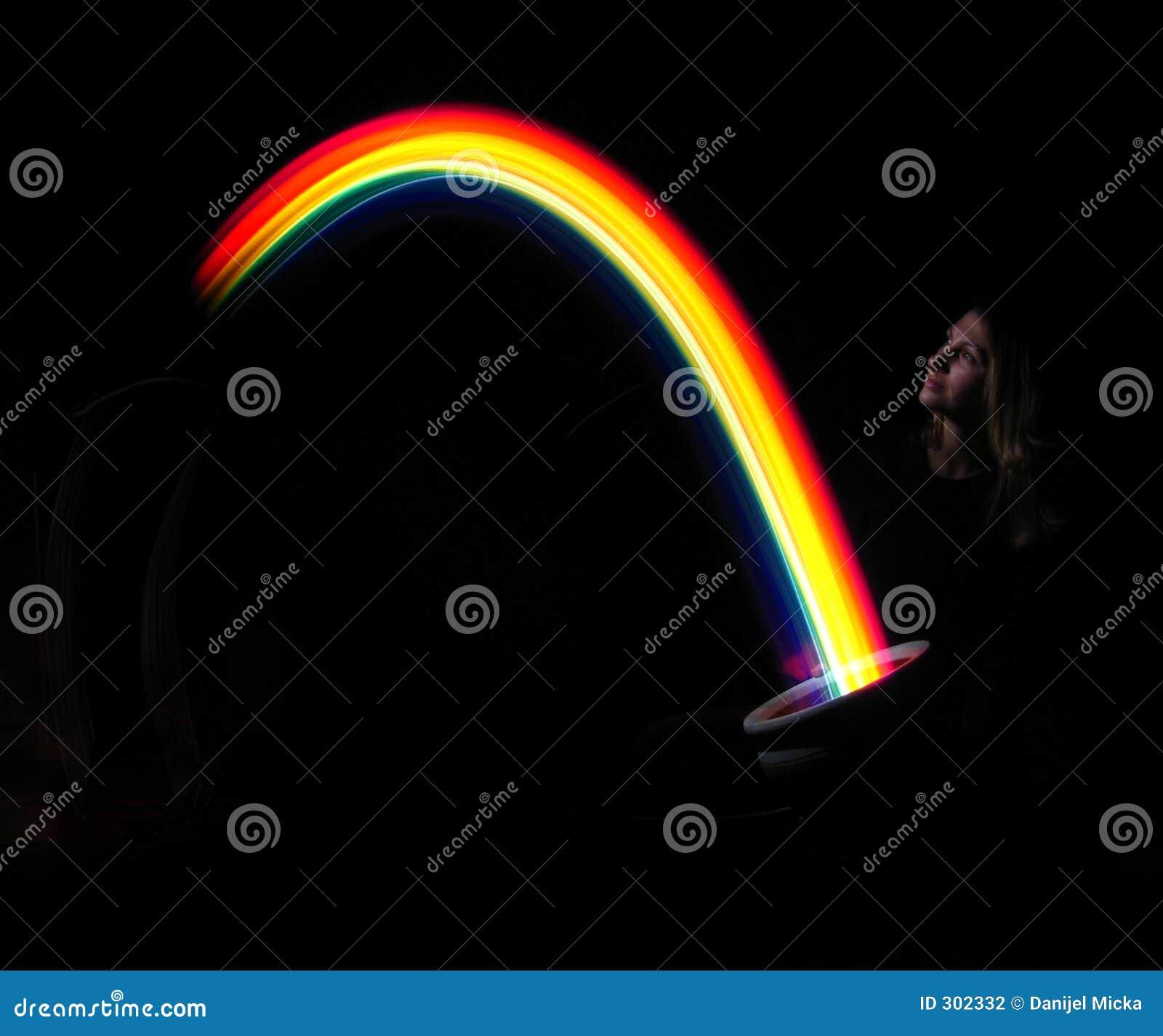 Het houden van een regenboog