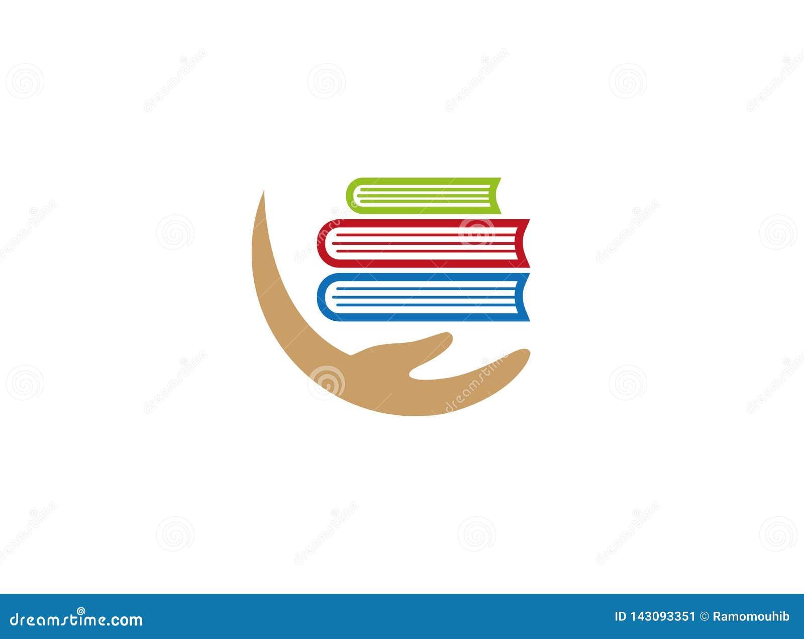 Het houden van multiboeken met wapen voor embleemontwerp