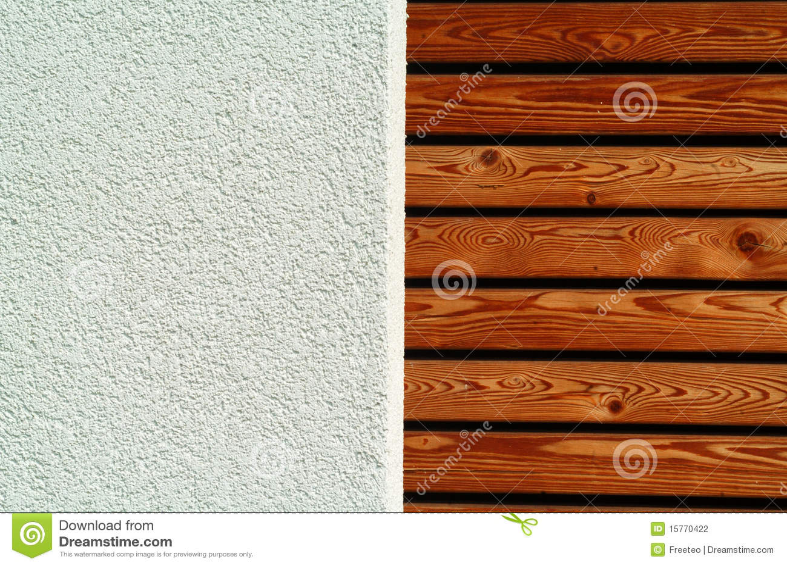 Wandplanken Van Beton : Het hout en het beton van de textuur stock foto afbeelding