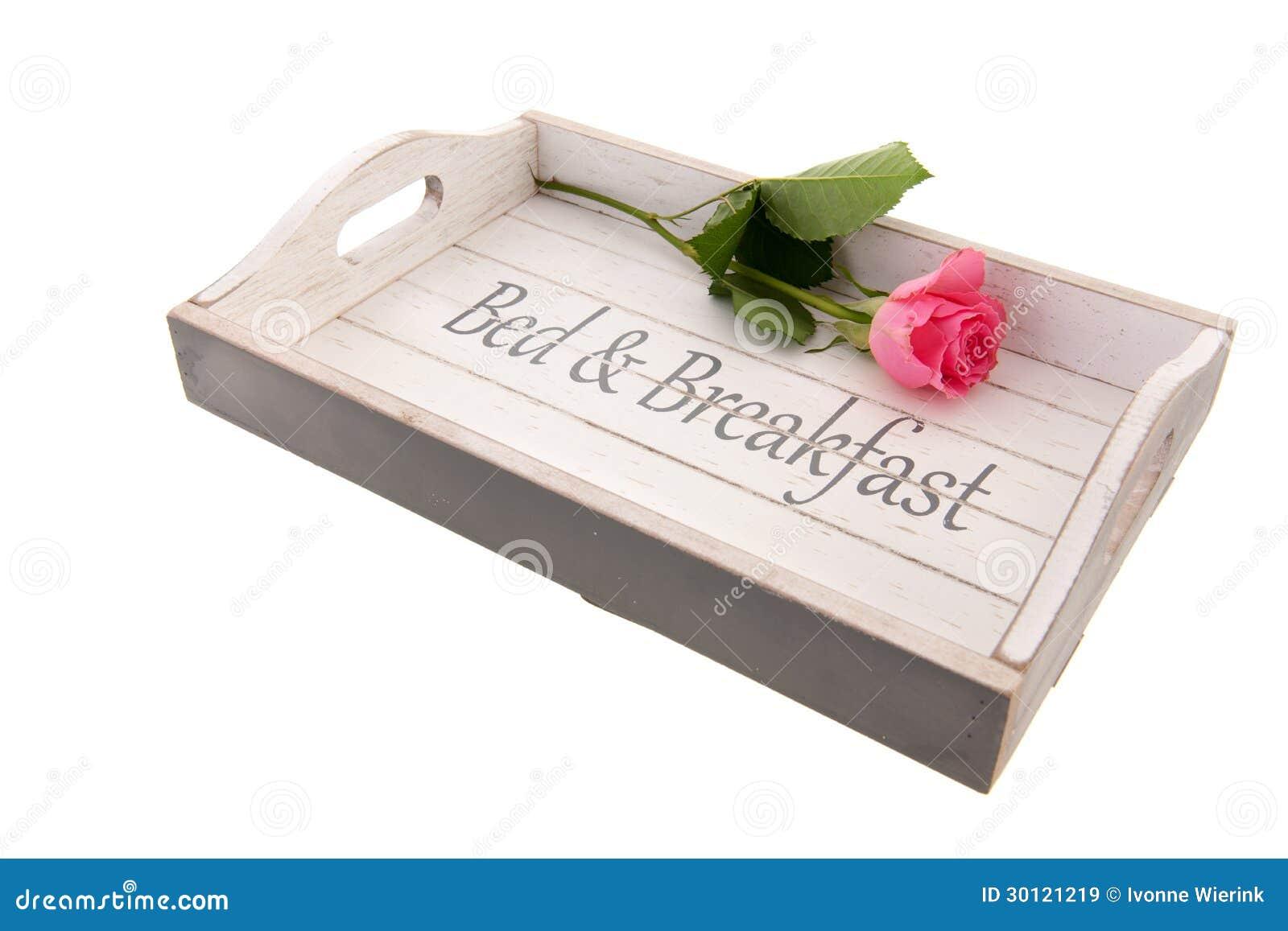 Het bed van het dienblad en ontbijt royalty vrije stock afbeeldingen afbeelding 30121219 - Houten bed ...