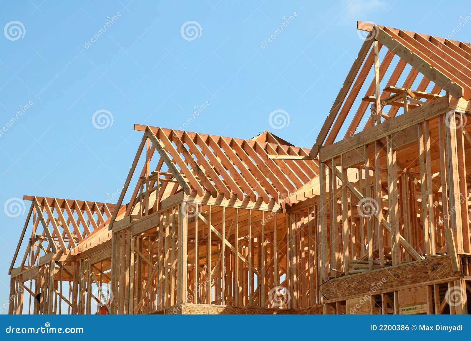 Het houten frame van het dak royalty vrije stock afbeelding afbeelding 2200386 - Prieel frame van ...