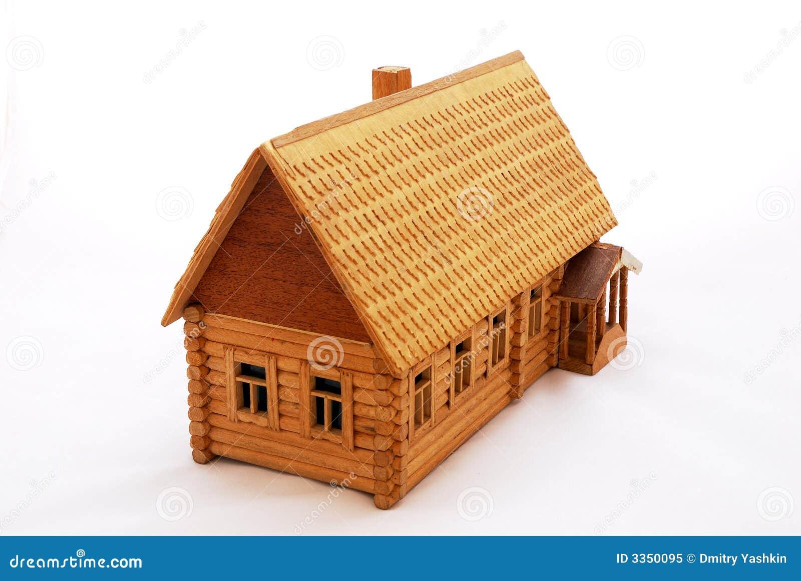 Het houten huis van de close-up