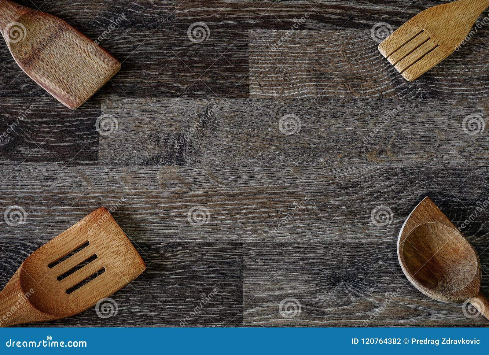 Het houten tin van de voedselopslag dat in het verleden is gebruikt en geweest