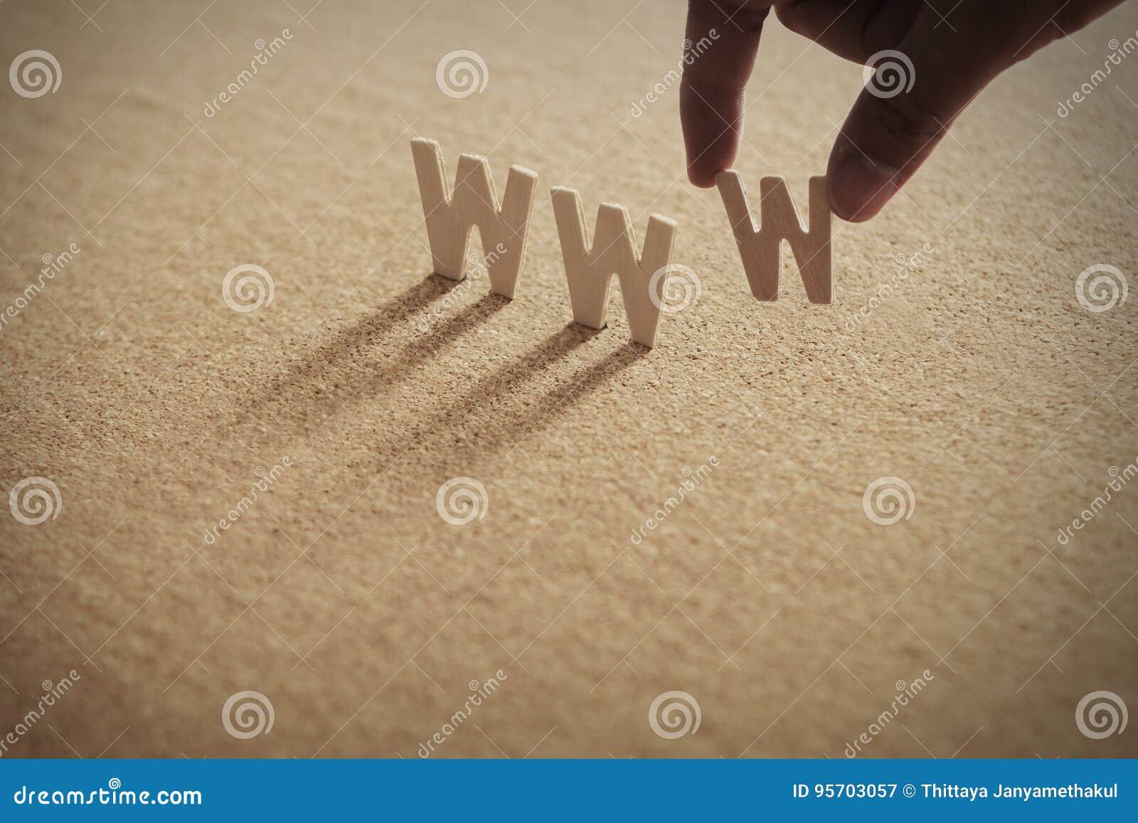 Het houten woord van WWW op samengeperste raad