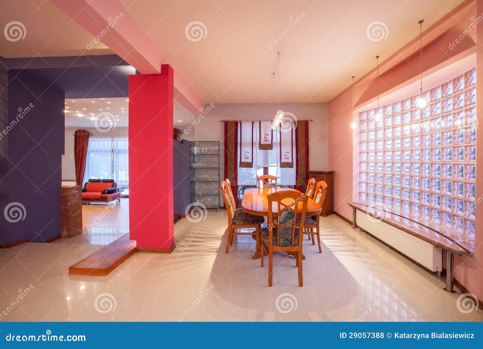 Het huis van de amarant eetkamer royalty vrije stock foto 39 s afbeelding 29057388 - Idee van de eetkamer ...