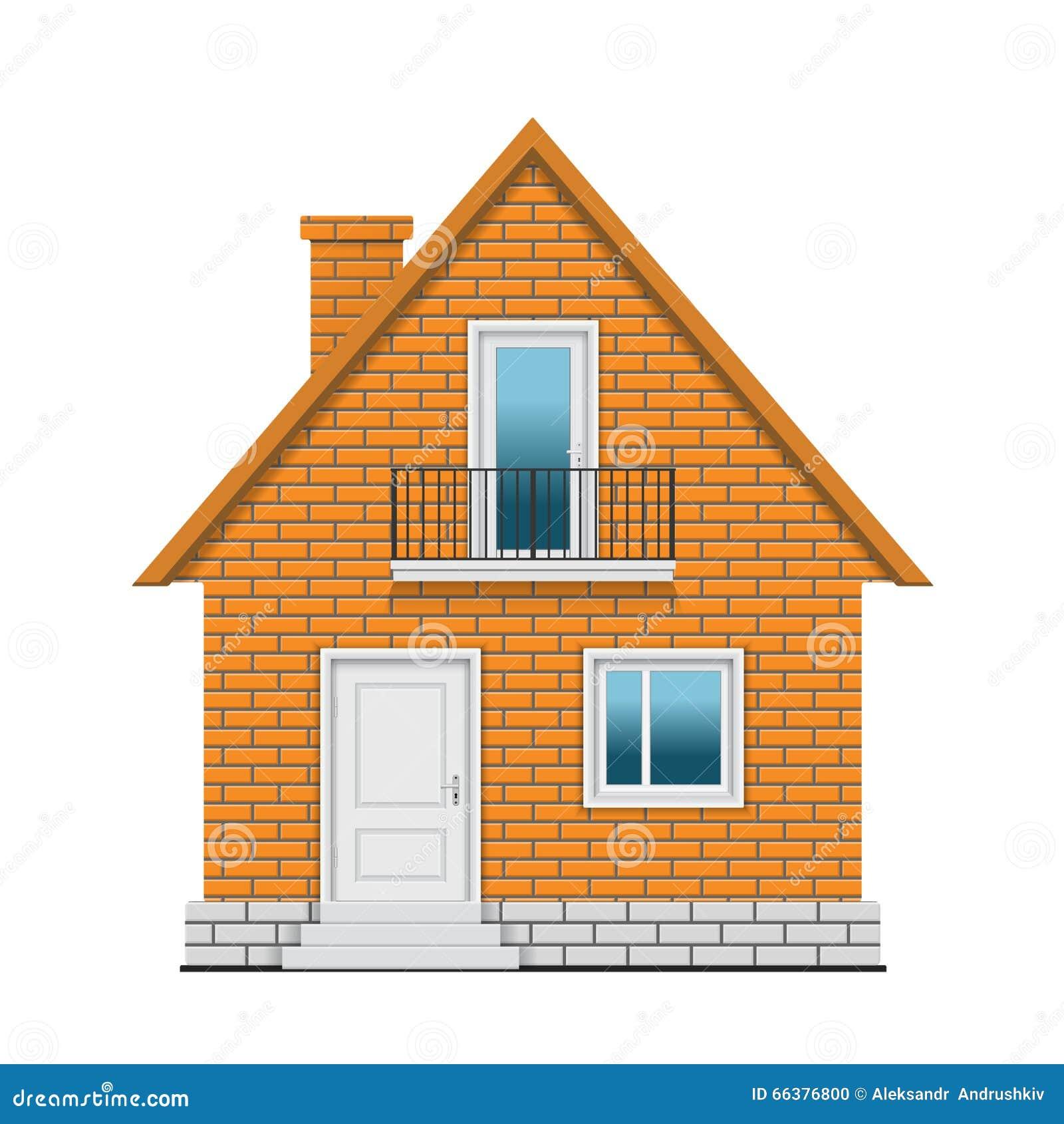 Het huis van de baksteen vector illustratie afbeelding bestaande uit balkon 66376800 - Huis van het wereldkantoor newport ...