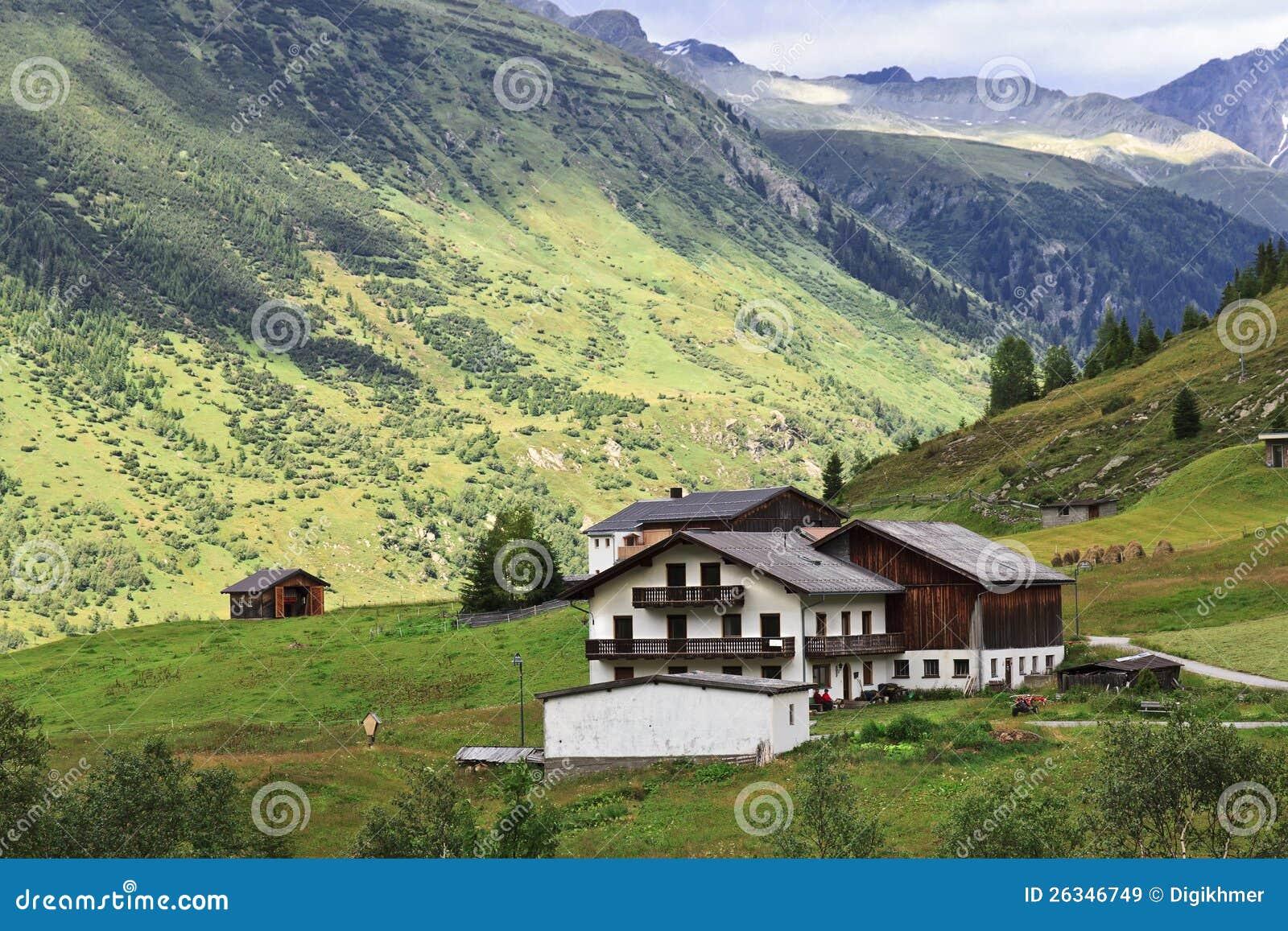 Het huis van de berg van alpen royalty vrije stock afbeeldingen afbeelding 26346749 - Huis van de cabriolet ...