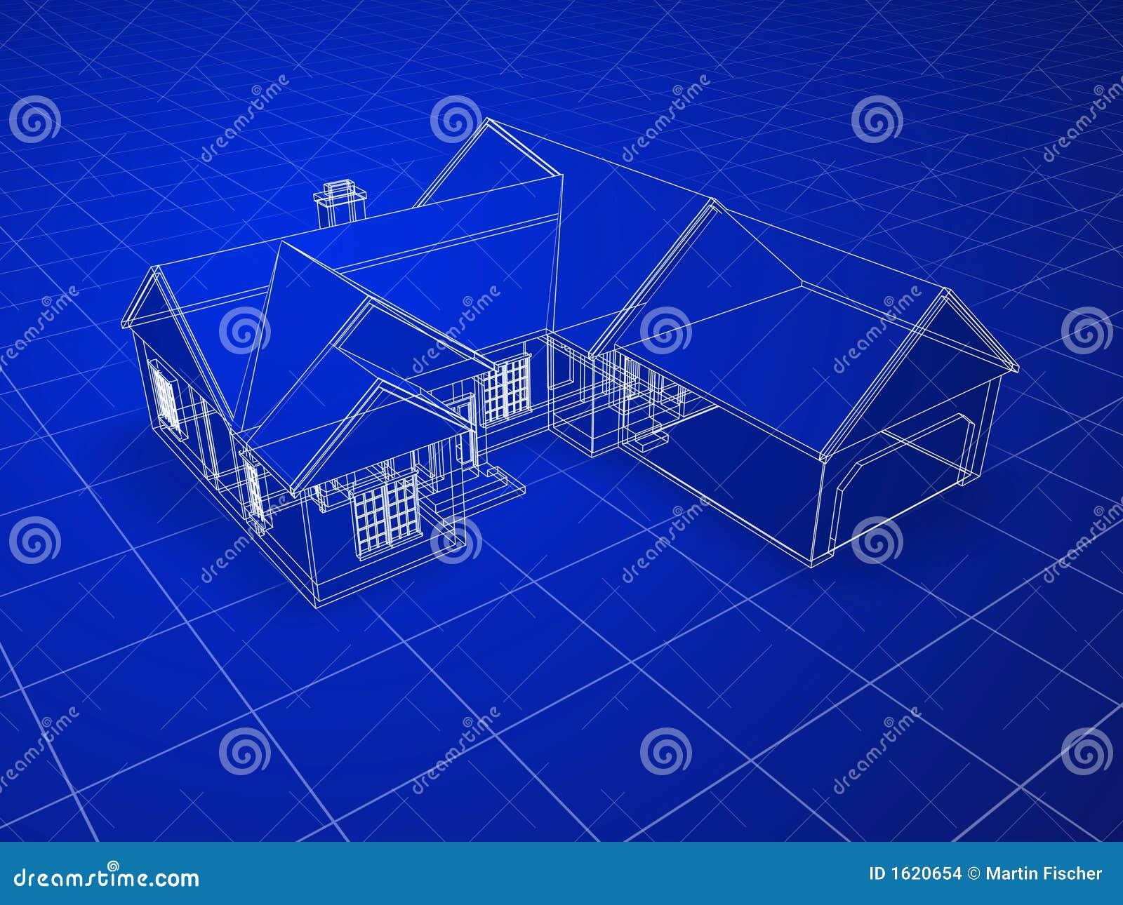 Het huis van de blauwdruk stock illustratie afbeelding bestaande uit blauwdruk 1620654 - Huis van het wereldkantoor newport ...