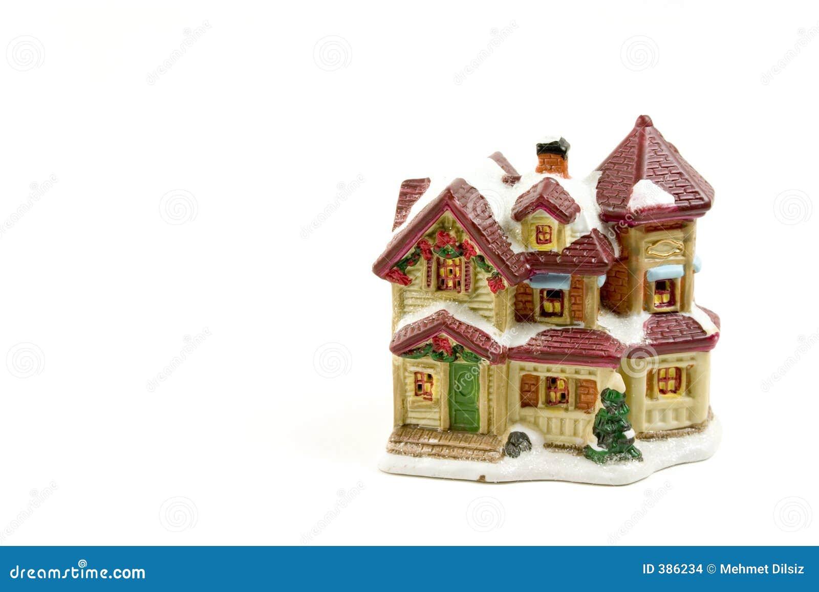 Het huis van de decoratie van kerstmis 5 stock foto afbeelding 386234 - Decoratie van de villas ...