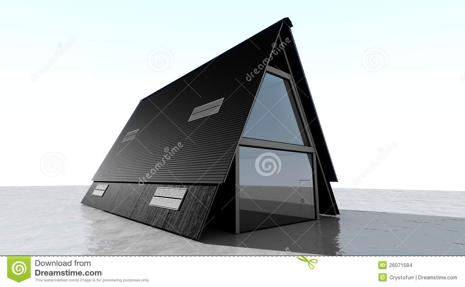 Het huis van de driehoek stock illustratie afbeelding bestaande uit architectuur 26071584 - Model van huisarchitectuur ...
