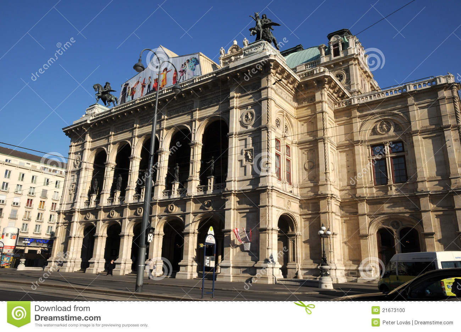 Het huis van de opera van de staat van wenen redactionele afbeelding afbeelding 21673100 - Huis van de cabriolet ...