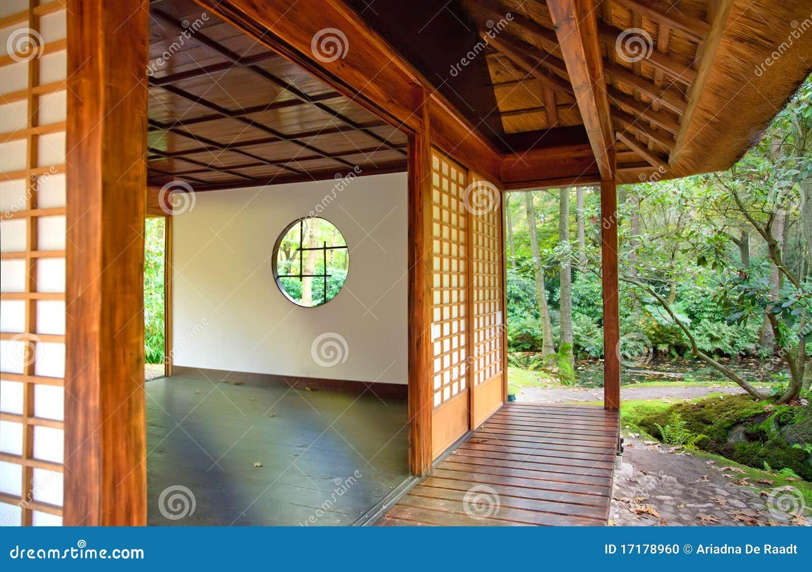 Het huis van de thee in japans park stock foto afbeelding 17178960 - Huis van het wereldkantoor newport ...