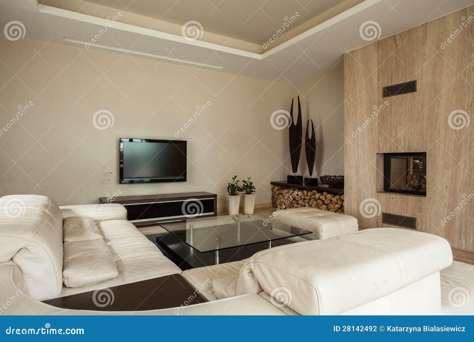 Het huis van de travertijn open haard in woonkamer stock fotografie afbeelding 28142492 for Huis open haard mantel