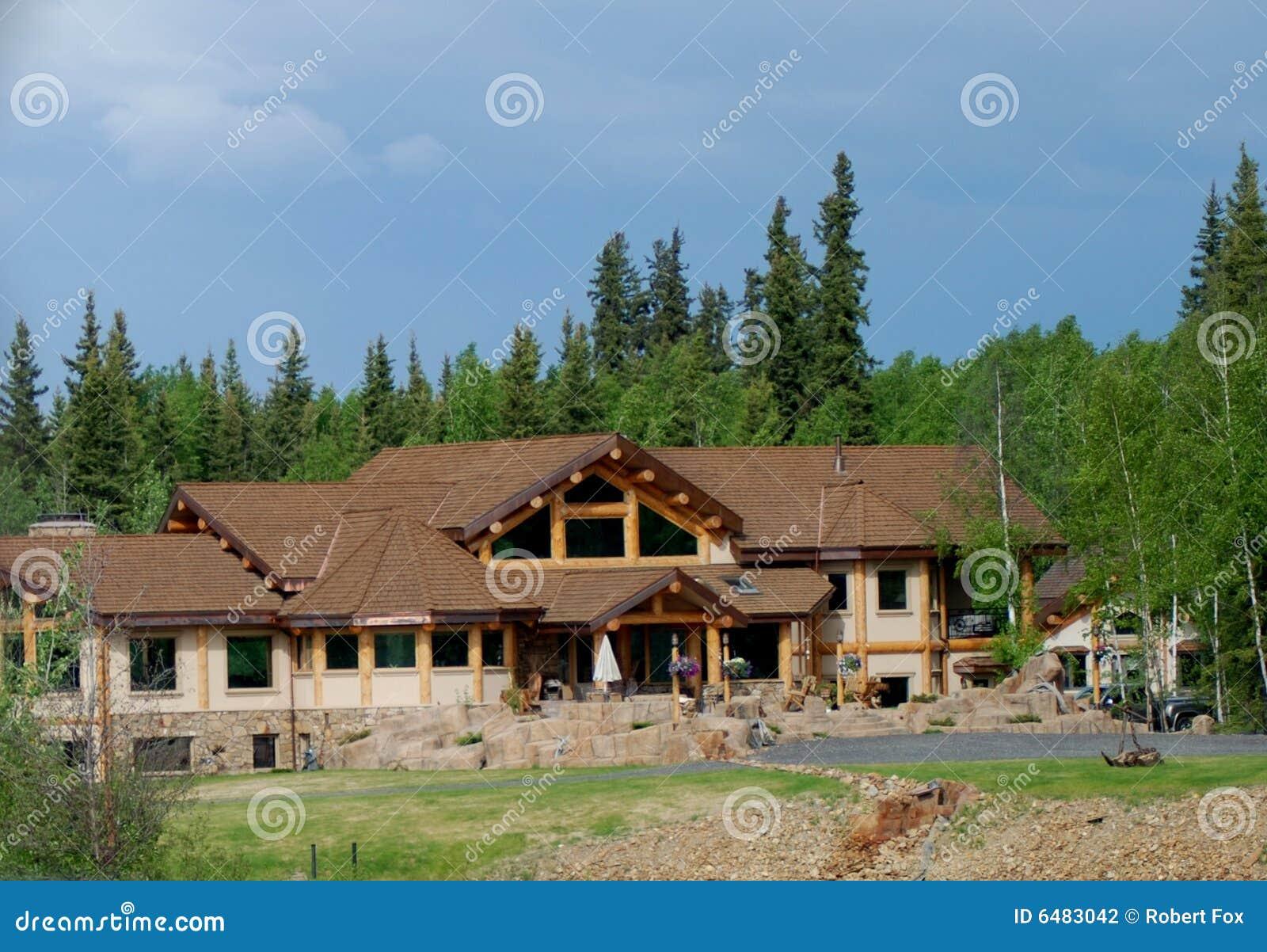Het huis van de waterkant in alaska stock foto afbeelding 6483042 - Huis van de cabriolet ...