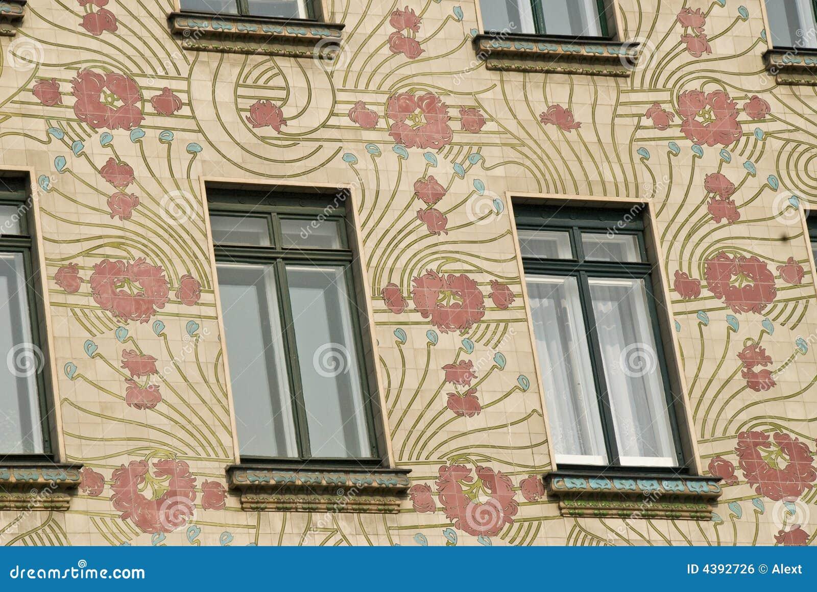 Het huis van het art deco in wenen oostenrijk royalty vrije stock afbeelding afbeelding 4392726 - Deco van het appartement ...